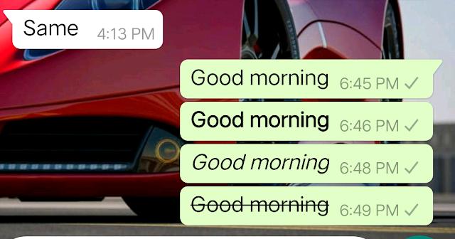 font style in whatsapp