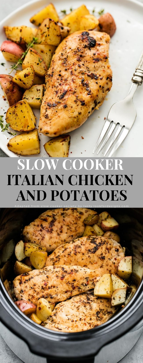 Slow Cooker Italian Chicken and Potatoes Recipe