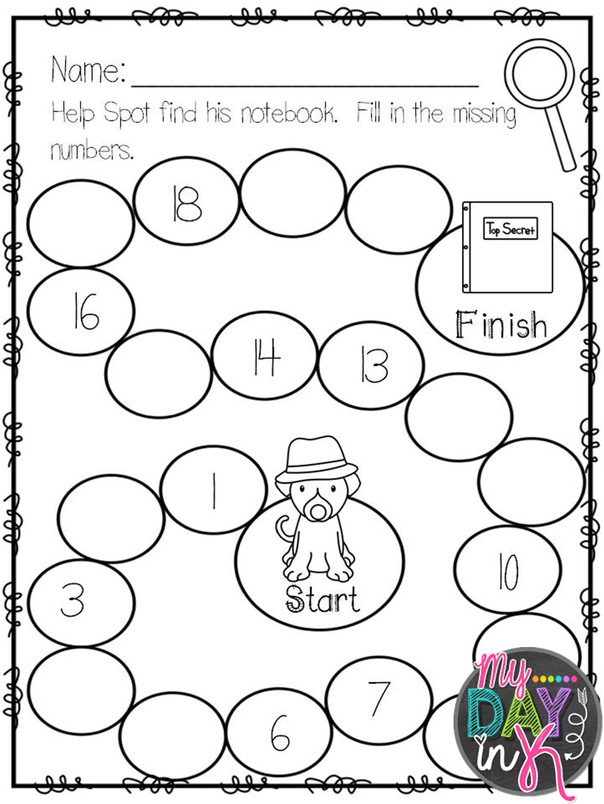 worksheet. Fill In The Missing Number Worksheets