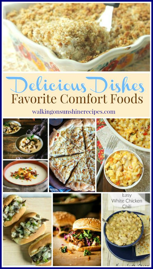 Comfort Food Recipes featured on Walking on Sunshine Recipes