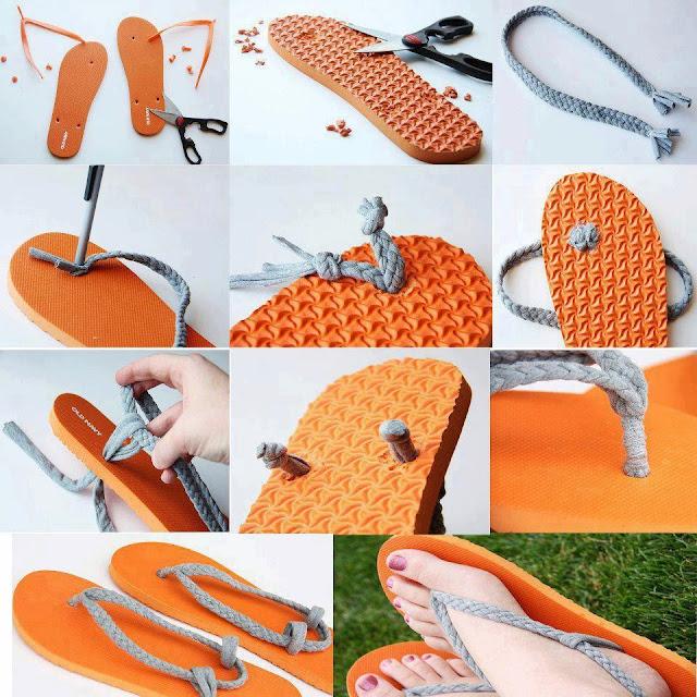 sandalias, chilenos, hawaianas, reciclar, zapatos, manualidades