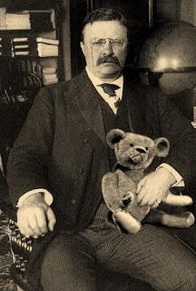 Theodore Roosevelt y el osito Teddy.