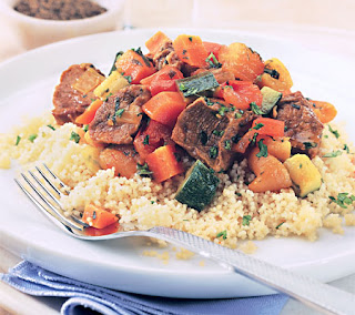 spicy lamb tagine with couscous recipe