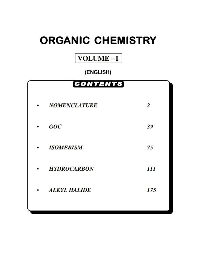 ORGANIC CHEMISTRY VOLUME 1 BY BANSAL CLASSES
