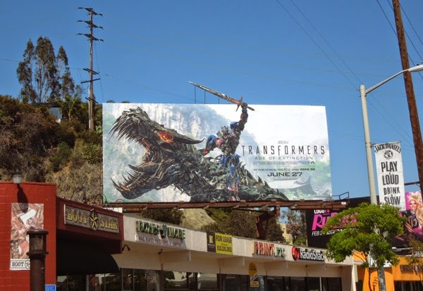 Transformers 4 Age of Extinction special extension billboard
