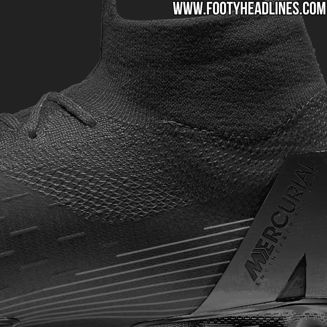 on sale e4317 d51ed Tech-wise, the first blackout Nike Mercurial Superfly 360 2018 football  boots are the same as all previous releases of Nikes cutting-edge speed  boots.