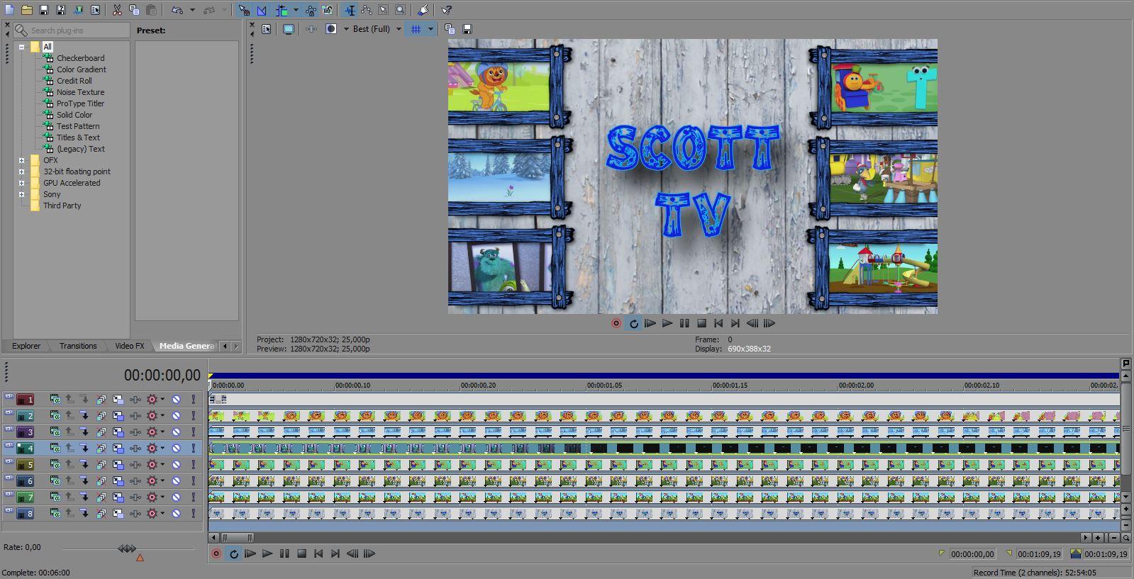 Alain\'s Projects: Scott TV