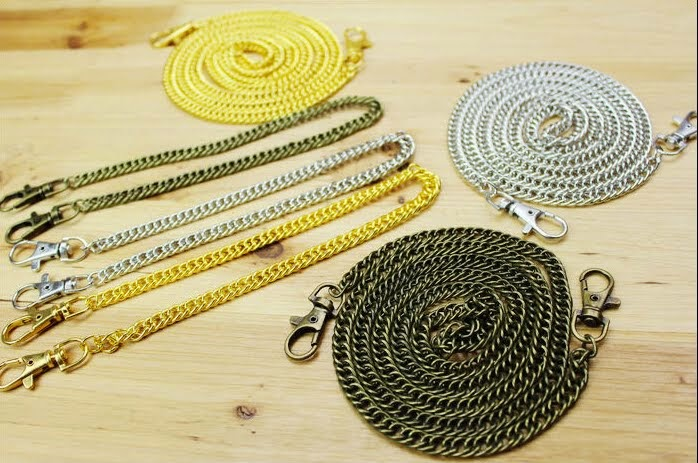 Ручки для сумки Одинарные с цепочкой и карабинами (синтетическая кожа) 28490845389