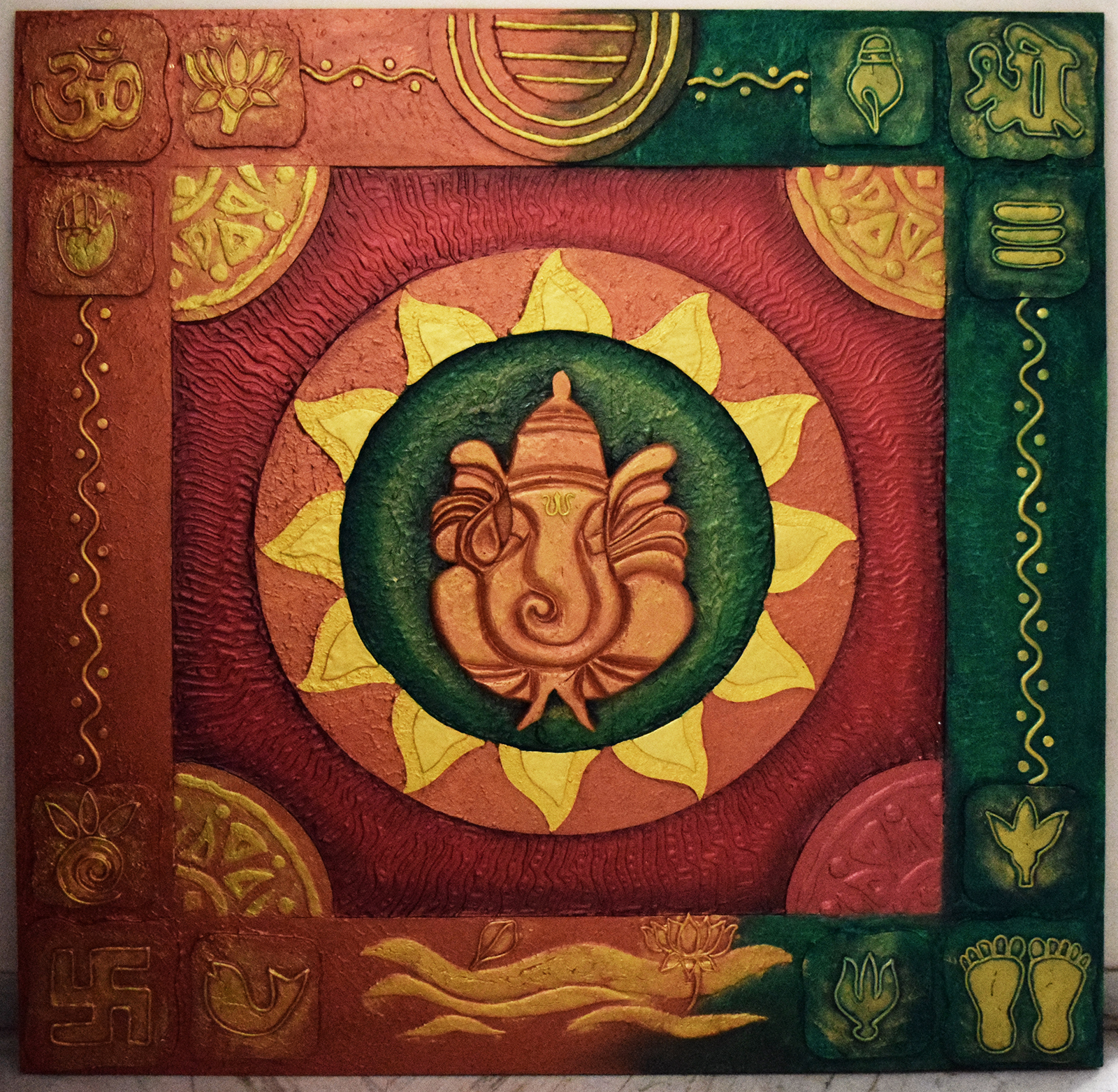 huge ganesha wall mural for exterior wall