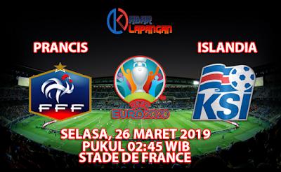 Prediksi Bola Prancis vs Islandia 26 Maret 2019