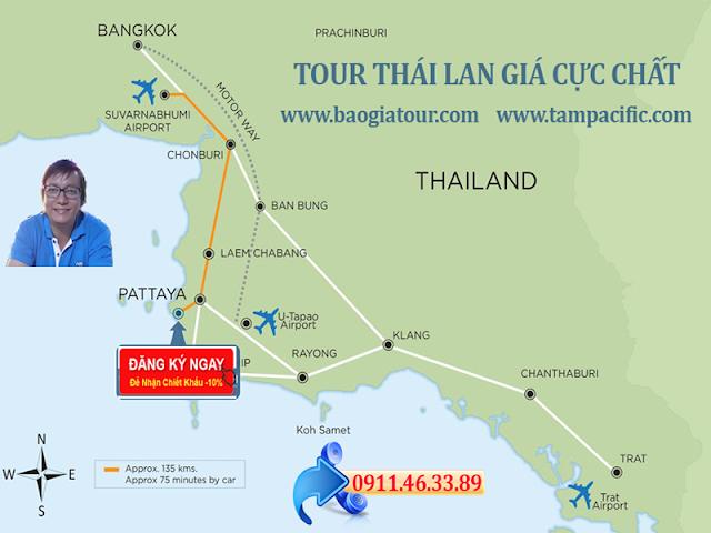 Tour Bangkok - Đảo Coral - Pattaya giá cực HOT thời điểm tháng hè