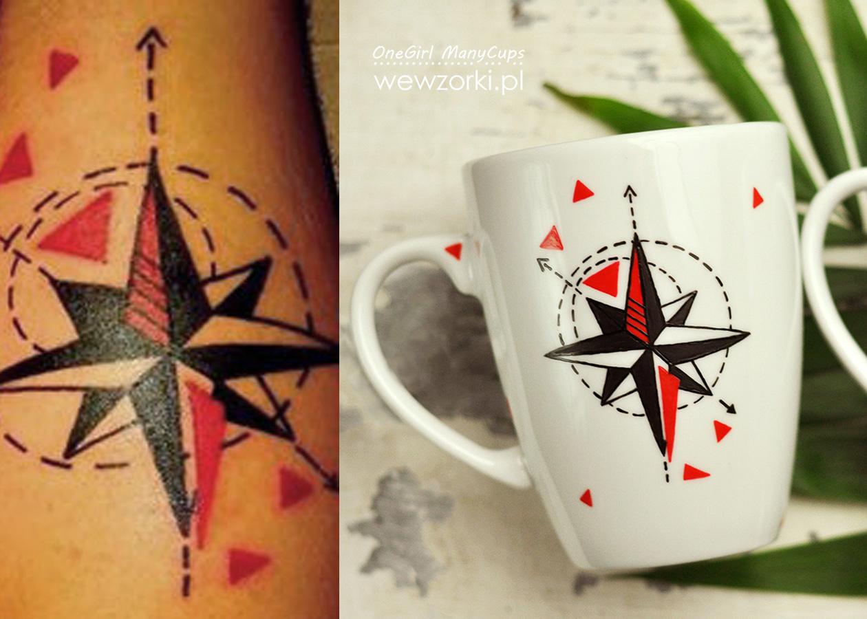 Wewzorki Róża Wiatrów Na Podstawie Tatuażu