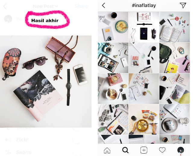 fotoflatlay, tutorial instagram