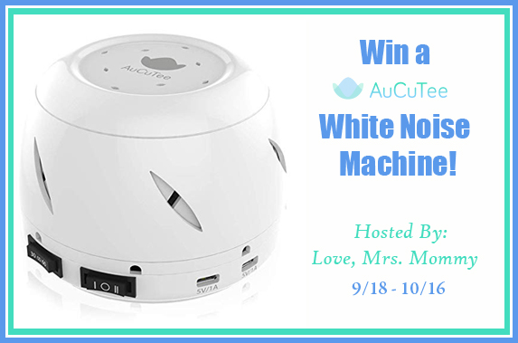 Sleep Soundly with AuCuTee's White Noise Machine Giveaway! Ends 10/16