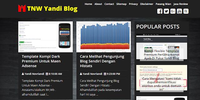 Kompi Dark Template Premium Blogger Adsense