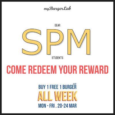 myBurgerLab Buy 1 Free 1 SPM Promo