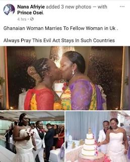 Ghanaian Lesbians Share A Kiss At their Wedding In Holland (Photos)