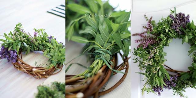 DIY zioła wieniec