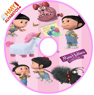 Alfabeto de Agnes de Mi Villano Favorito. Agnes of Despicable Me Alphabet.