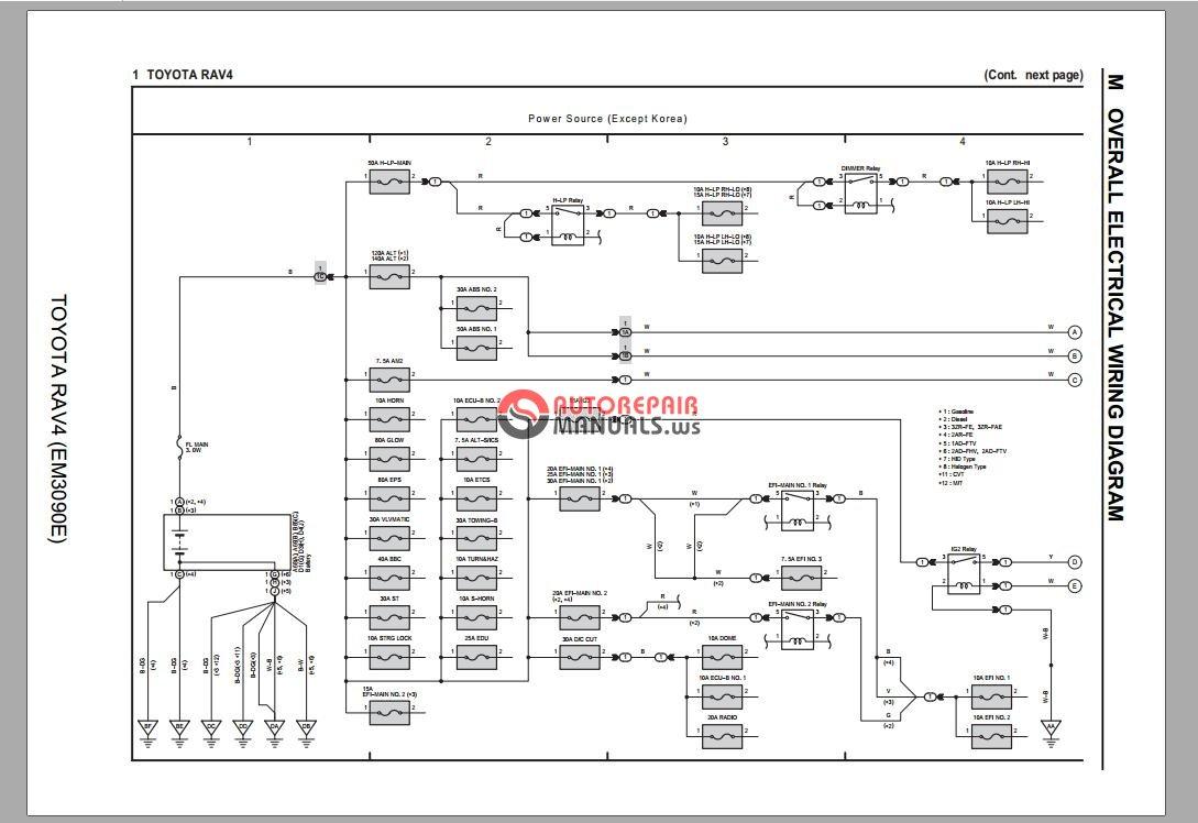 Freeautoepcservice  Toyota Rav4 2013 Wiring Diagram