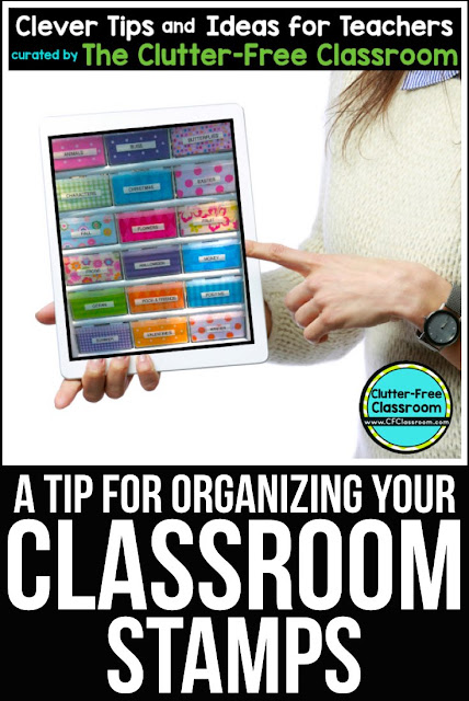 Are you wondering how to organize and store the rubber stamps you use for grading? This classroom organization tip will be helpful for elementary teachers.