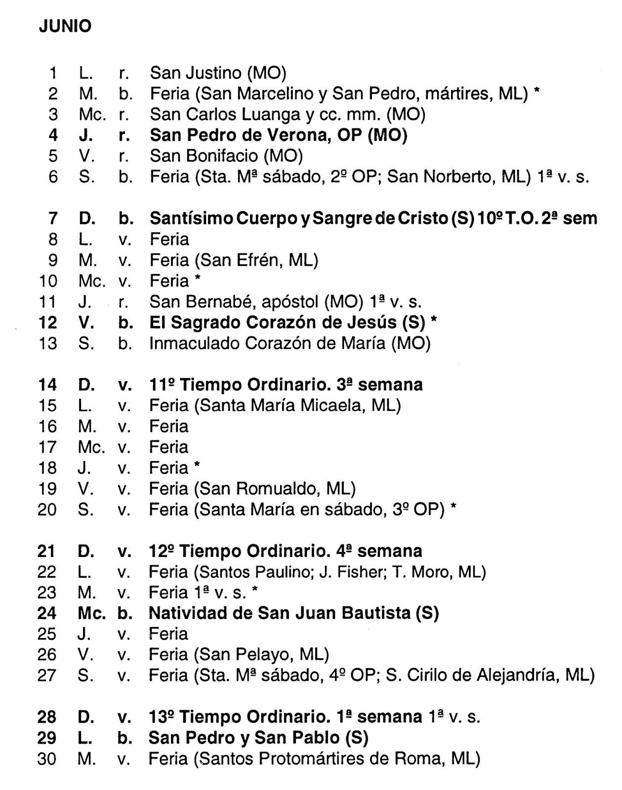 Calendario Santoral.Santoral Dominicano Calendario Propio De La Orden De