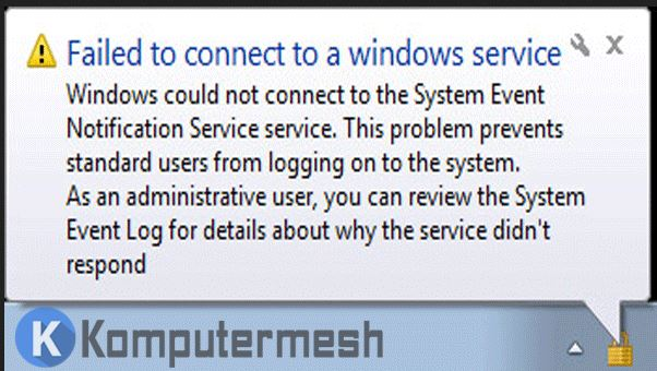 Cara Mengatasi Failed to Connect to a Windows Service