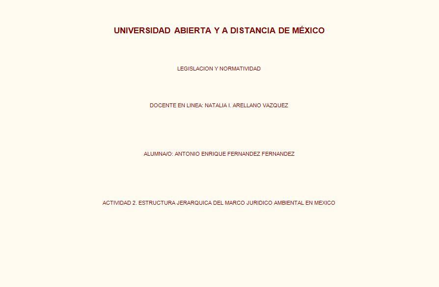 Aefernandf Unadm Estructura Jerárquica Del Marco Jurídico