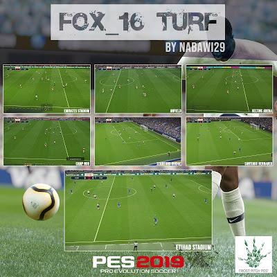 PES 2019 FOX_16 Turf + Update by Nabawi29