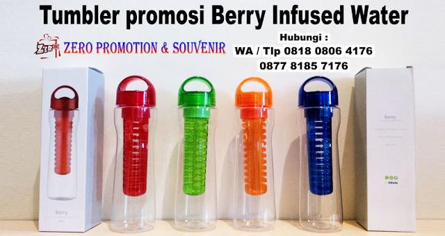 Jual Botol Minum Buah model Berry Infused water, Tumbler Berry Infused Water, Botol minum Berry, Souvenir Botol Infused Water Promosi, tumbler Chielo Berry Murah