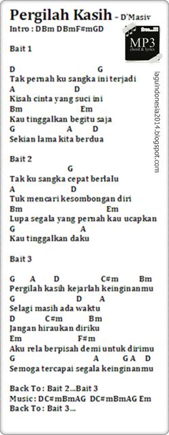 Chord Lagu D'masiv Pergilah Kasih : chord, d'masiv, pergilah, kasih, Chord, Guitar, Pergilah, Kasih, D'Masiv