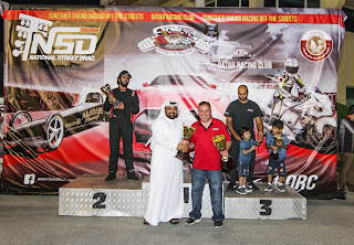 Moe Atat gets his 2nd trophy at National Street Drag