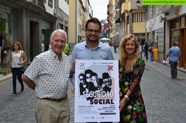 La actuación de Seguridad Social protagoniza la Noche de San Juan en Santa Cruz de La Palma