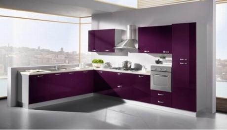 Cocinas color violeta colores en casa - Cocina color lila ...