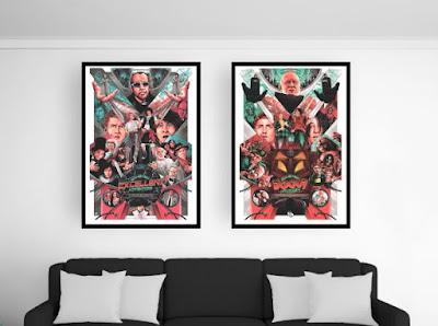 Bill & Ted's Excellent Adventure Movie Poster Screen Print by Matt Ryan Tobin x Skuzzles