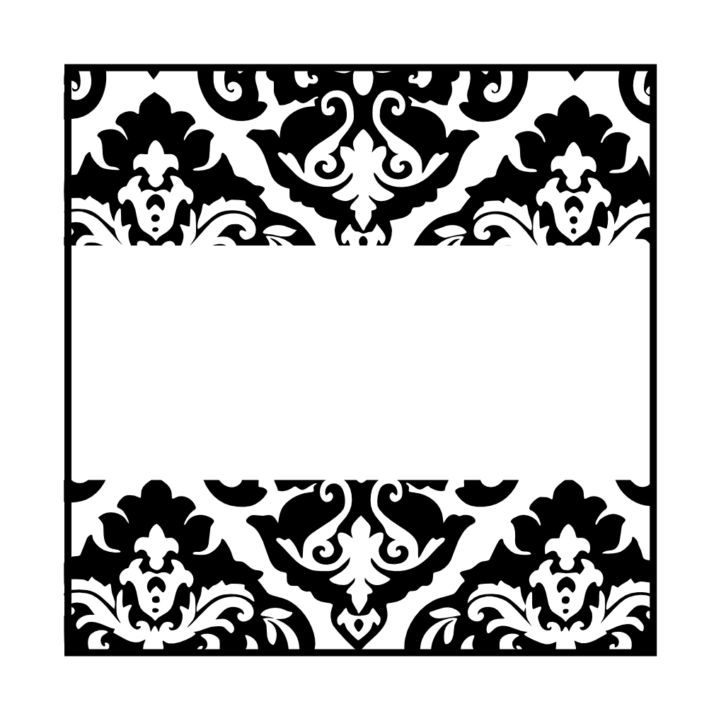 black and white damasks: free printable toppers and labels. | oh my