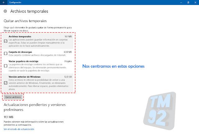 liberar espacio en windows 10 borrar archivos temporales