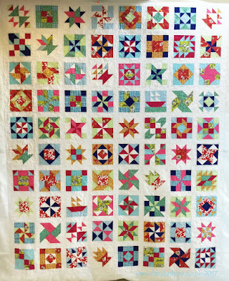 'The Art of Quilting' Modern Homestead Sampler Quilt quilted by Fabadashery Long arm quilting