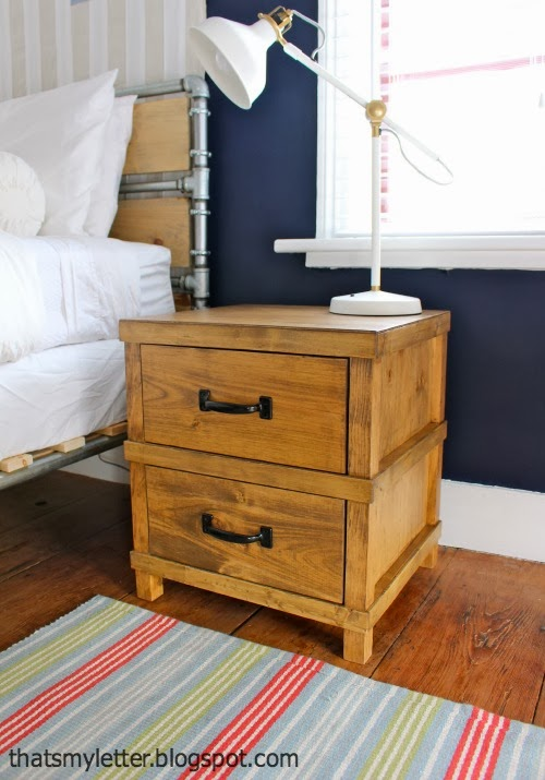 diy pottery barn inspired owen nightstand