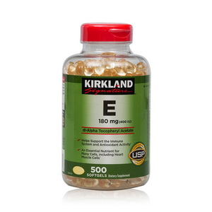 Kirkland Signature thuốc uống bổ sung Vitamin E 400 IU, 500 viên của Mỹ