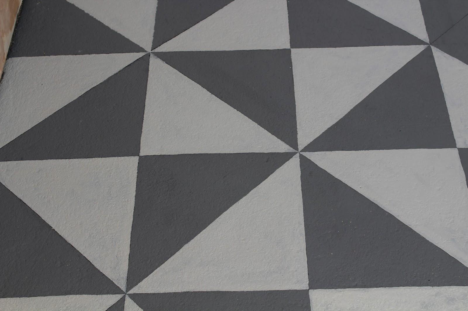 DIY handpainted floor