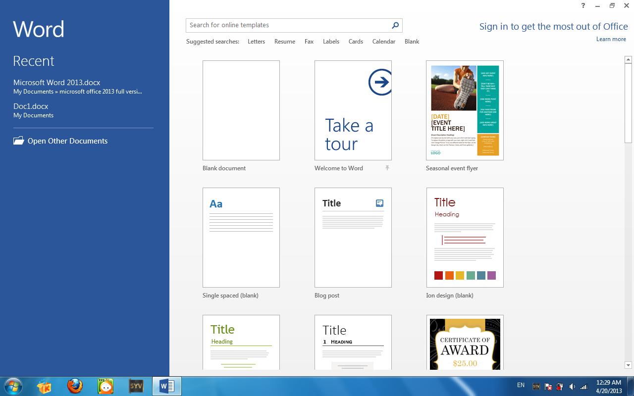 Microsoft Office Professional Plus 2013 free download full ...