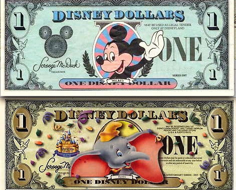 Disney Dollars Orlando