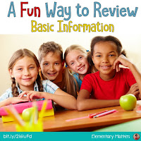 A Fun Way to Review Basic Information: This is a great end-of-the-year, beginning of the year, or anytime game, with suggestions on how to use it.