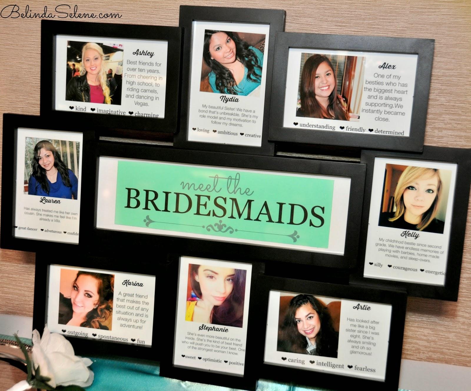 bridesmaid meet and greet ideas