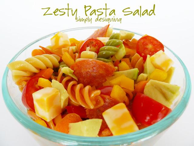 zesty pasta salad 1 Zesty Avocado Pasta Salad + Giveaway! #GetZesty #giveaway #sponsored 19