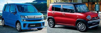 新型ワゴンR ハスラー 画像比較