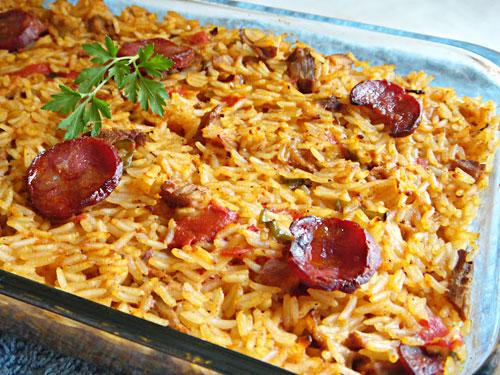 Receita: arroz de carnes
