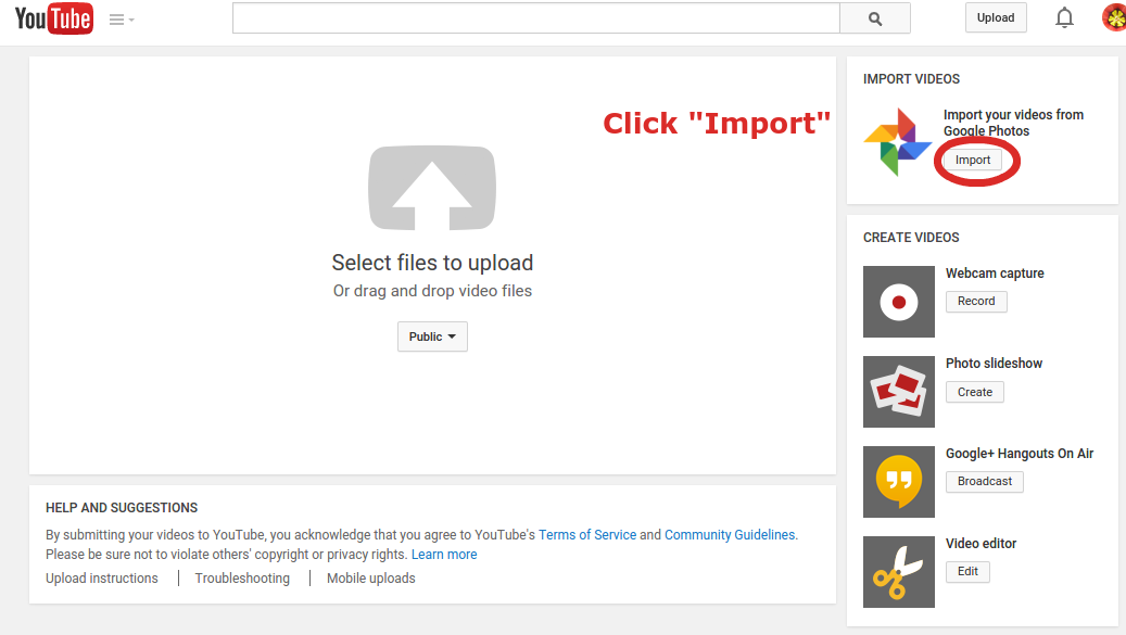 Import Videos From Google Photos To Your Youtube Channel