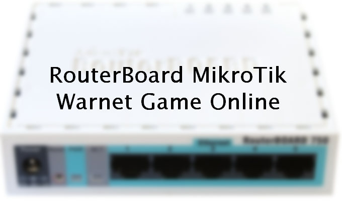 RouterBoard 750 - RB Mikrotik Yang Simpel dan Murah Cocok Untuk Warnet 5 Client